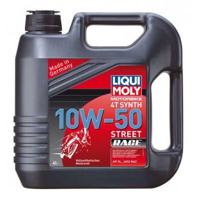 Моторне масло Liqui Moly Motorbike 4T Synth 10W-50 Street Race 4л