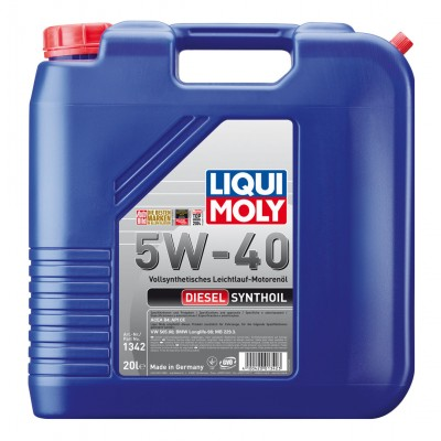 Моторне масло Liqui Moly Diesel Synthoil 5W-40 20л